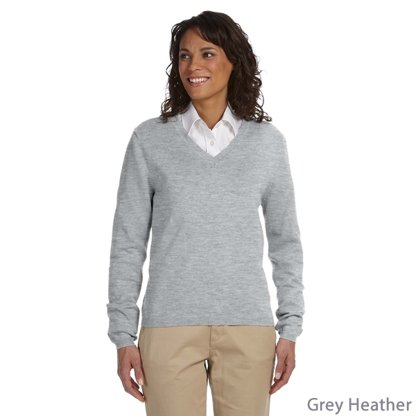 Promotional Devon & Jones D475W Ladies' V-Neck Sweater
