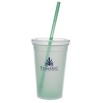 Promotional Tumbler Cups with Straws