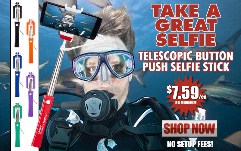Promotional Telescopic Button Push Selfie Stick
