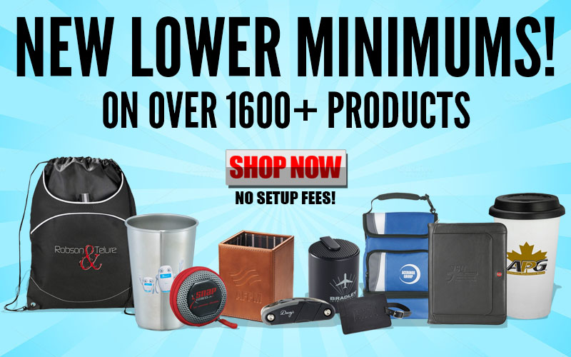 Low Minimum Promotional Products