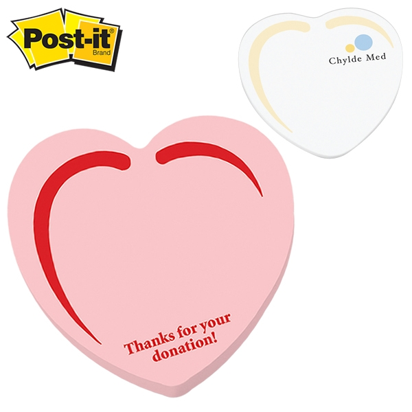 promotional post it shape heart shape large sticky note customized