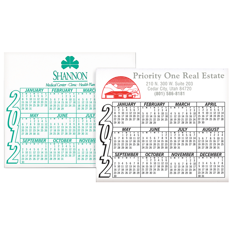Year Calendar Magnetic : Promotional yearly calendar magnets customized