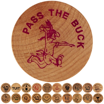 Promotional Wooden Nickel Token