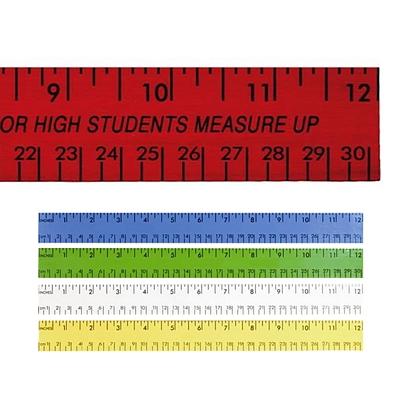 "Promotional 12"" Enamel Wood Ruler English & Metric Scale"
