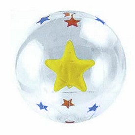 Promotional 16 Inflatable Transparent Beach Ball With Star Insert