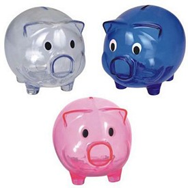 Promotional Transparent Piggy Bank