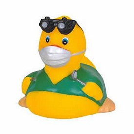 Promotional Rubber Dentist Duck