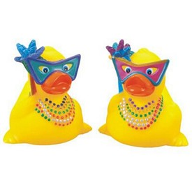 Customized Rubber Mardi Gras Duck