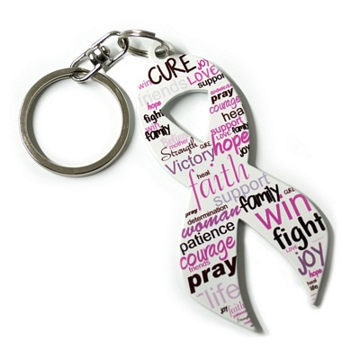 Customized Full Color Awareness Ribbon Key Chain