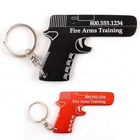 Customized Hand Gun Key Chain Bottle Opener