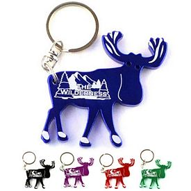 Customized Moose Bottle Opener Key Chain