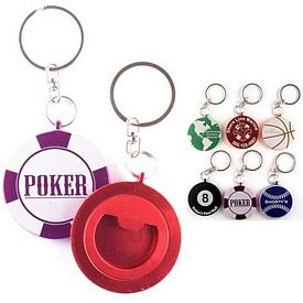 Promotional Round Bottle Opener Key Chain