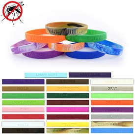 Customized 1-2-Inch Debossed Mosquito Repellent Wristbands