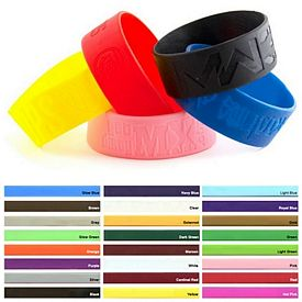 Promotional 1-Inch Debossed Silicone Awareness Wristbands