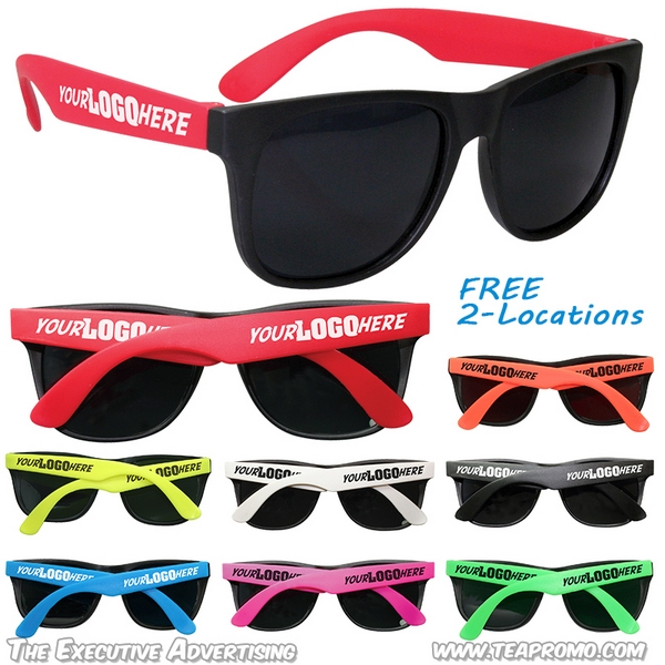 Sunglasses Locations  customized party sunglasses with 2 locations promotional