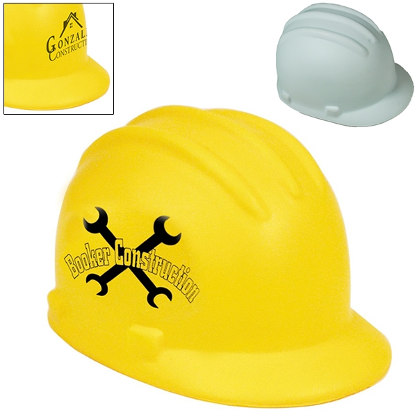 a24fbc4f4bc Promotional Construction Hard Hat Squeezie Stress Reliever ...