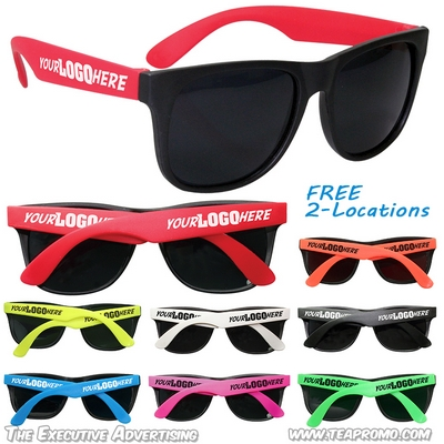 Customized Party Sunglasses with 2-Locations