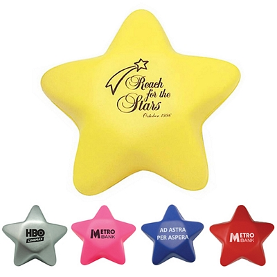 Customized Star Squeezie Stress Reliever