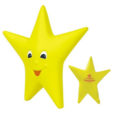 Customized Happy Star Squeezie Stress Reliever