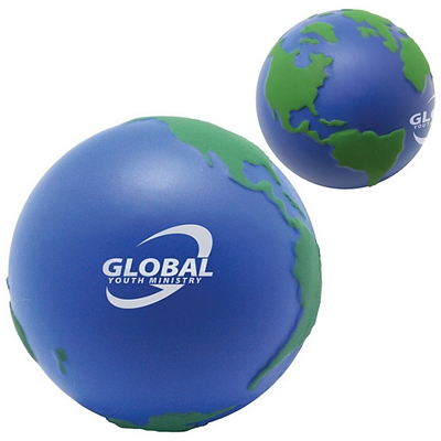 Customized Earth Ball Squeezie Stress Reliever