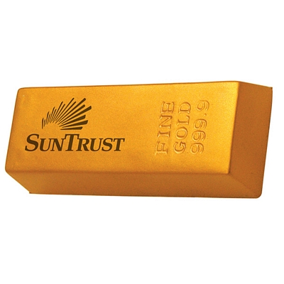 Customized Gold Bar Squeezie Stress Reliever