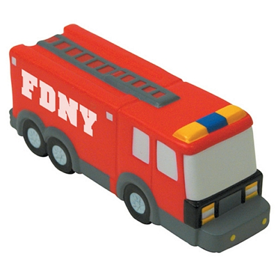 Promotional Fire Truck Squeezie Stress Reliever