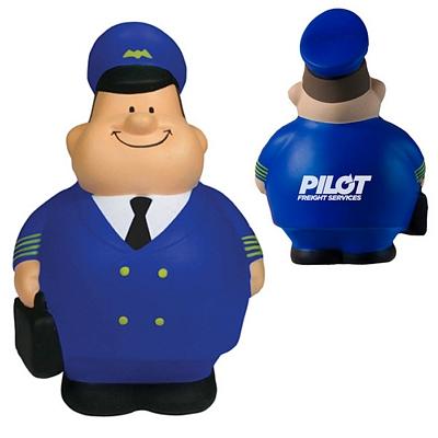 Customized Modern Airline Pilot Bert Squeezie Stress Reliever