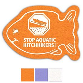 Promotional Fish Shammy Coaster