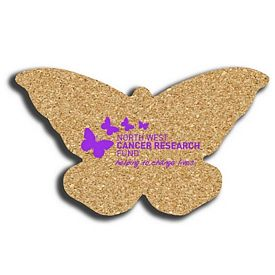 Customized Butterfly Small Cork Coaster