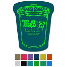 Promotional Trash Can Classic Rubber Medium Jar Opener
