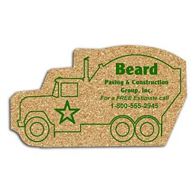 Customized Cement Truck Medium Cork Coaster