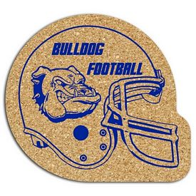 Promotional Football Helmet Medium Cork Coaster