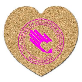 Custom Heart Medium Cork Coaster
