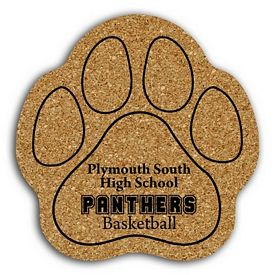 Promotional Paw Medium Cork Coaster