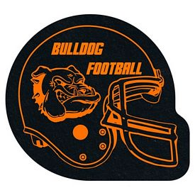 Custom Football Helmet Recycled Tire Medium Coaster