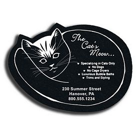 Custom Cat Recycled Tire Medium Coaster