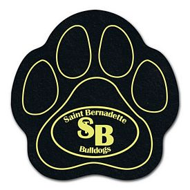 Custom Paw Recycled Tire Medium Coaster