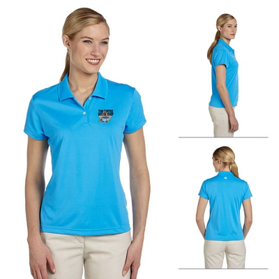 Customized adidas A122 Ladies ClimaLite Short-Sleeve Pique Polo