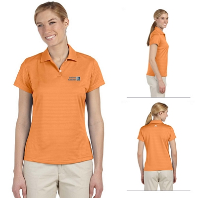 Customized adidas A162 Ladies ClimaLite Textured Short-Sleeve Polo