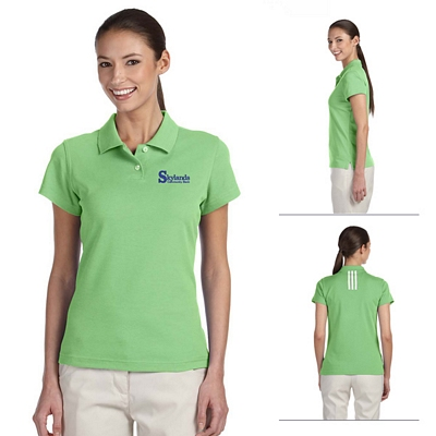 Customized adidas A85 Ladies ClimaLite Tour Pique Short-Sleeve Polo