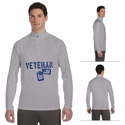 Customized All Sport M3006 Mens 1-4 Zip Lightweight Pullover