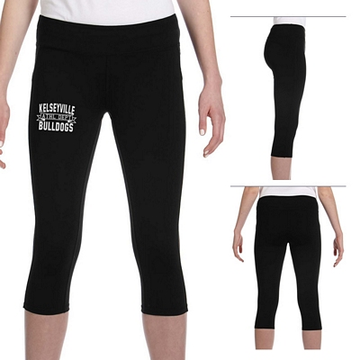 Customized All Sport W5009 Ladies Capri Legging Pants