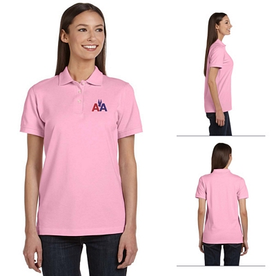 Customized Anvil 8680A 6.5 oz Ladies Ringspun Pique Polo