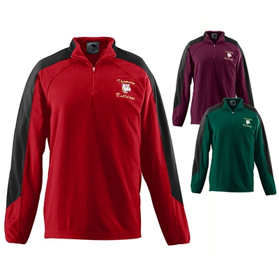 Customized Augusta Sportswear 3830 Micro Fleece Half-Zip Pullover