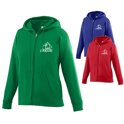 Customized Augusta Sportswear 5525 Ladies Wicking Fleece Full Zip Hooded Sweatshirt