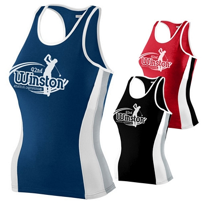 Customized Augusta Sportswear 707 Ladies Poly-Spandex Racerback Tank