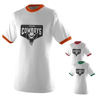 Customized Augusta Sportswear 710W White Ringer T-Shirt
