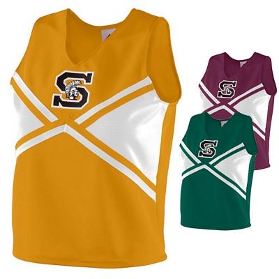 Customized Augusta Sportswear 9120 Ladies Cheerleader Explosion Shell Shirt