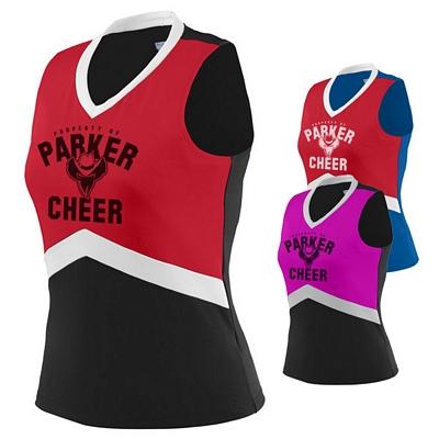 Customized Augusta Sportswear 9200 Ladies Cheerleader In-Motion Shell Shirt