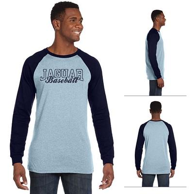 Customized Bella 3000C Men's Jersey Long-Sleeve Baseball T-Shirt